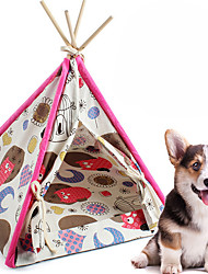 cheap -Pet Tent Outdoor Lightweight Windproof Rain Waterproof Camping Tent 2000-3000 mm for Camping / Hiking / Caving Linen / Cotton Blend 45*45*60 cm