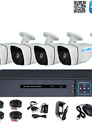 cheap -4CH Monitoring Equipment Set Shop Monitor AHD Coaxial 2 Million 1080P Infrared Night Vision HD
