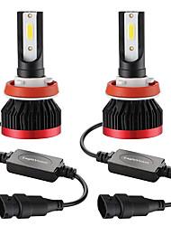 Недорогие -Мини светодиодная лампа автомобильная фара h11 h8 h9 100 Вт 20000lm 6000 К автомобильная фара