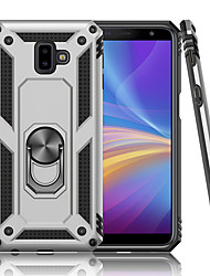 cheap -Luxury Armor Soft Shockproof Case For Samsung Galaxy J4 Plus J6 Plus Silicone TPU Bumper Case For Samsung Galaxy J4 2018 J6 2018 Car Metal Magnetic Finger Ring Cover
