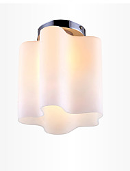 cheap -1-Light Glass Ceiling Light Simple Flush Mount Pendant Lights Ambient Light Electroplated Metal Matte
