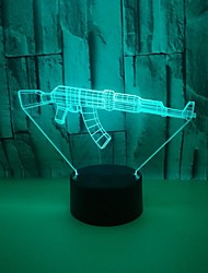 cheap -3D Nightlight Color-Changing with USB Port Touch USB 1pc
