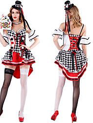 cheap -Queen of Hearts Cosplay Costume Outfits Masquerade Adults' Women's Cosplay Halloween Halloween Festival / Holiday Polyster White Women's Carnival Costumes