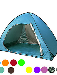 cheap -2 person Beach Tent Family Tent Outdoor Lightweight Windproof UV Resistant Single Layered Automatic Camping Tent 1000-1500 mm for Fishing Beach Camping / Hiking / Caving Coating Terylene 200*130*130