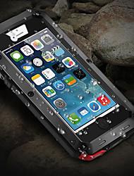 Недорогие -чехол для apple iphone x / iphone 8 plus / iphone 8 / 5s / 5c / 5 противоударный / пыленепроницаемый / водостойкий чехлы для всего тела броня металл