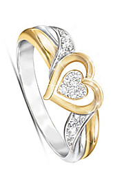 cheap -Women's Ring 1pc Gold Alloy Classic Korean Fashion Daily School Jewelry Hollow Out Heart