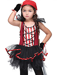 cheap -Pirates of the Caribbean Pirate Movie / TV Theme Costumes Dress Cosplay Costume Halloween Props Costume Kid's Girls' Cosplay Halloween Halloween Festival Halloween Children's Day Masquerade Festival