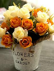 Недорогие -Искусственные цветы Полиэстер европейский нерегулярный Букеты на стол нерегулярный 1