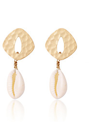 cheap -Women's Drop Earrings Hoop Earrings Earrings Geometrical Shell Statement Bohemian Fashion Modern Gold Plated Shell Earrings Jewelry Gold For Party Engagement Daily Holiday Festival 1 Pair