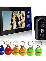 cheap -Wired RFID 7 inch Hands-free 800*480 Pixel One to One video doorphone