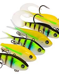 cheap -6 pcs Fishing Lures Soft Bait Pencil Grub Sinking Bass Trout Pike Trolling & Boat Fishing Soft Plastic