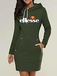 cheap -Women's Mini Wine Green Dress Basic Street chic Bodycon Sheath T Shirt Geometric Print S M