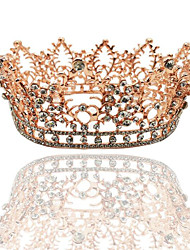 cheap -Crystal / Alloy Tiaras with Crystal / Crystals 1 Piece Wedding / Special Occasion Headpiece