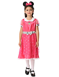 cheap -Fairytale Cookie Anime Dress Cosplay Costume Outfits Halloween Props Masquerade Kid's Girls' Halloween Halloween Festival / Holiday Spandex Polyester / Polyamide Fuchsia Carnival Costumes