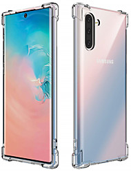 cheap -Case For Samsung Galaxy Note 9 / Note 8 / Galaxy Note 10 Transparent Back Cover Solid Colored TPU