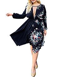 cheap -Women's Asymmetrical Black Dress Basic Elegant A Line Floral Rose Lace XL XXL