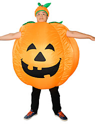 cheap -Pumpkin Cosplay Costume Inflatable Costume Adults' Men's Halloween Halloween Festival / Holiday Rayon / Polyester Light Gold Men's Women's Carnival Costumes / Leotard / Onesie / 1 x User Manual