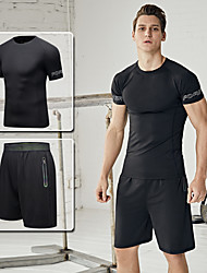 cheap -Men's Tracksuit Activewear Set Athletic Spandex Breathable Quick Dry Soft Fitness Gym Workout Running Walking Jogging Sportswear Running T-Shirt With Pants Running T-Shirt With Shorts Sweatshirt and