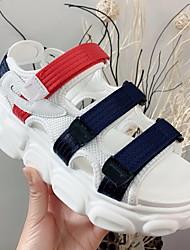 cheap -Women's Sandals Flat Heel Round Toe Mesh Summer White / Red
