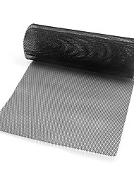 cheap -Car Vehicle Black Tone Aluminum Alloy 3 x 6mm Rhombic Grille Mesh Sheet