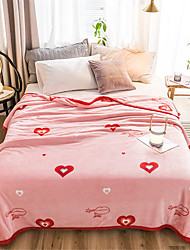 cheap -Bed Blankets, Floral / Print / Simple Polyester Soft Comfy Blankets