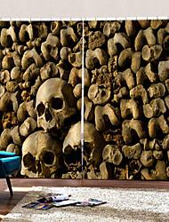 abordables -blackout trou installation libre rideaux uv impression numérique halloween squelette mur rideau fond