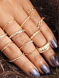 cheap -Ring Set Champagne Alloy 12pcs / Women's