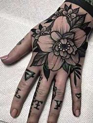 cheap -5 pcs Waterproof Temporary Tattoo Sticker Rose other Flower Fake Tatto Flash Tatoo Hand Arm Foot Back Tato body art for Girl Women Men
