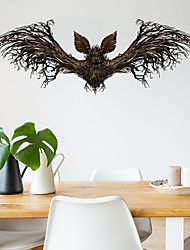 cheap -Decorative Wall Stickers - Animal Wall Stickers Animals / Halloween Decorations Living Room / Bedroom / Kitchen / Removable / Re-Positionable