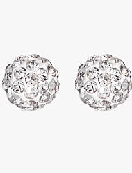 cheap -Women's White AAA Cubic Zirconia Stud Earrings Classic Lucky Artistic Luxury European Fashion Elegant S925 Sterling Silver Earrings Jewelry White / Pink For Christmas Gift Daily Work Festival 1 Pair