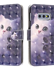 cheap -Case For Samsung Galaxy S9 / S9 Plus / Galaxy S10 Wallet / Card Holder / Shockproof Full Body Cases Cat PU Leather