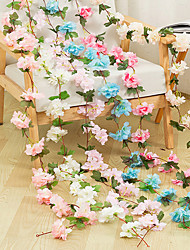 Недорогие -1 шт. Моделирования ротанга оптом поддельные цветок лозы свадьба свадьба потолочные украшения ротанга отель спальня чердак украшения цветок винограда украшение партии