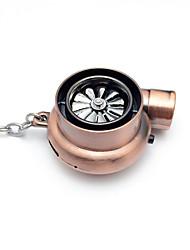 Недорогие -творческий электрический турбо зажигалка брелок USB перезаряжаемый прикуриватель брелок со светодиодной подсветкой и звуком
