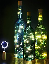 cheap -2M 20 LEDS Wine Bottle Lights With Cork Built In Battery LED Cork Shape Silver Colorful Fairy Mini String Lights