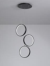 abordables -La lumière pendante de cercle lumineux géométrique à 3 lumières a une finition peinte en métal réglable, led blanc chaud / froid 110-120v / 220-240v