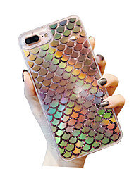 cheap -Case For Apple iPhone XS / iPhone XR / iPhone XS Max Shockproof / Dustproof / Water Resistant Back Cover Heart / sky / Glitter Shine TPU / PC / Flowing Liquid