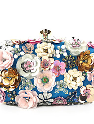 cheap -Women's Sequin / Pearls Silk Evening Bag Blue / Gold / Black / Fall & Winter