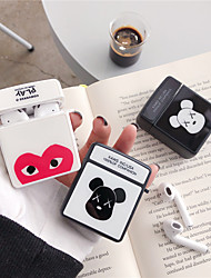 cheap -Case For AirPods Shockproof / Pattern / Cool Headphone Case Hard