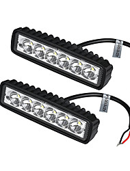 cheap -2Pcs/Lot 18W LED Work Light Bar Car Truck Boat Driving Lamp Off-road SUV Spot Daytime Running Lights