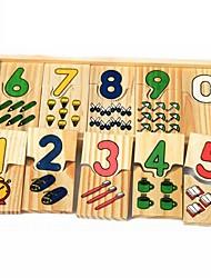 abordables -Puzzles en bois Jouet trieur de forme Lettre Mignon Fait à la main Interaction parent-enfant En bois 3 pcs Enfant Bébé Jouet Cadeau