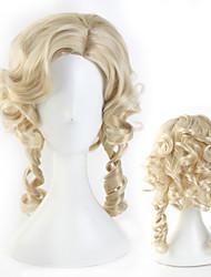 cheap -Belle Cosplay Wigs Masquerade Women's Movie Cosplay Cosplay Halloween Golden Wig Halloween Carnival Masquerade Synthetic Fiber