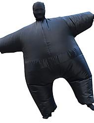 abordables -Lutteur Costume de Cosplay Costume Gonflable Adulte Homme Halloween Halloween Fête / Célébration Rayon / polyester Noir Homme Femme Déguisement Carnaval / Collant / Combinaison / Manuel D'Utilisation