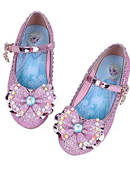 cheap -Girls' Flower Girl Shoes PU Heels Little Kids(4-7ys) Bowknot Purple / Pink / Blue Summer