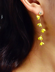 cheap -Women's Drop Earrings Geometrical Flower Romantic Elegant Imitation Pearl Earrings Jewelry Yellow For Party Carnival Street Work 1 Pair