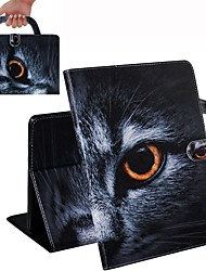 Недорогие -чехол для ipad air / ipad 4/3/2 / ipad (2018) кошелек / держатель для карт / противоударный чехол для всего тела кошачий кожаный чехол для ipad air 2 / ipad (2017) / ipad pro 9.7