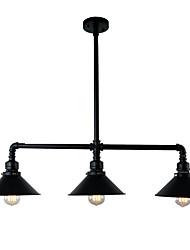 Недорогие -винтажные промышленные подвесные светильники с металлическим оттенком с 3-мя накладками
