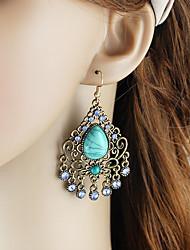cheap -Women's Drop Earrings Pear Cut Drop Romantic Elegant Earrings Jewelry Green / Blue For Party Carnival Street Work 1 Pair
