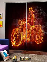 Недорогие -Горячая внешняя торговля 3d печать высококачественные шторы утолщение плотные ткани для гостиной скелет мотоцикла 100% полиэстер занавес