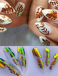 cheap -16pcs/set Nail the flame sticker hot style laser iridescence nail stick with 16 color a gum