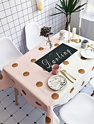 cheap -Casual Cotton Square Table Cloth Patterned Water Resistant Table Decorations